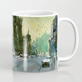 Melbourne Street scene - Brunswick Street Coffee Mug