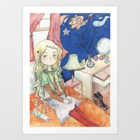 luna lovegood Art Prints featuring Luna Lovegood by malipi
