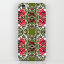 Very Berry Holly Christmas Multi Fractal from Photo 803 iPhone Skin