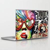 punk rock Laptop & iPad Skins featuring Punk Rock poster by Mira C