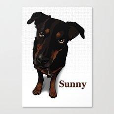 Sunny (white) Canvas Print