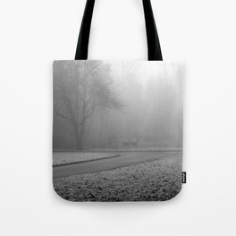 Whitetail Deer in the Fog Tote Bag