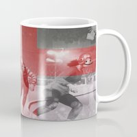 roller derby Mugs featuring Punchtuation Roller Derby by Vin Zzep