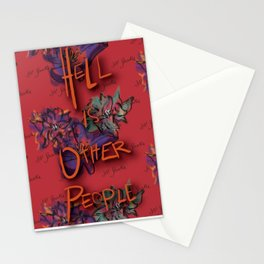 Hell is Other People Stationery Cards