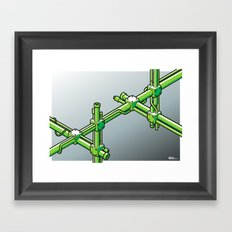 Impossible construction Framed Art Print