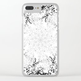 Synesthesia: Bad at Love (Halsey) Clear iPhone Case
