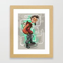 The teenage wizard  Framed Art Print