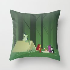 The Nick Yorkers in July Throw Pillow