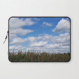 "Corn field in autumn with ""popcorn"" clouds Laptop Sleeve"