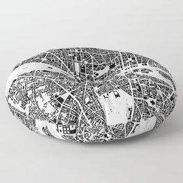 Paris building map Floor Pillow