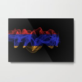 Armenia Smoke Flag on Black Background, Armenia flag Metal Print