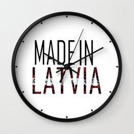 Made In Latvia Wall Clock
