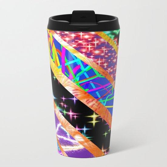 Crazy bright colours Metal Travel Mug