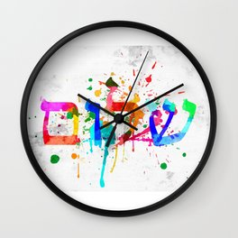 Shalom Hello Goodbye Wall Clock