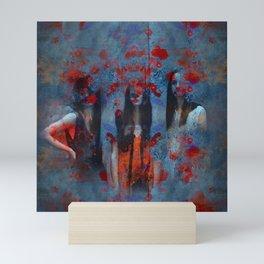 Abstract three women Mini Art Print