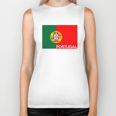 Portugal country flag name text Biker Tank