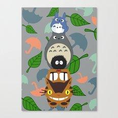 Troll Totem Canvas Print