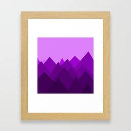 Abstract Purple Alien Landscape Framed Art Print