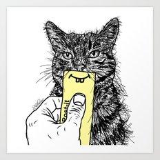 Cat Emoji - P0st it with a smile Art Print