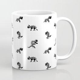 Cartoon Dinosaur Skeleton Pattern Coffee Mug
