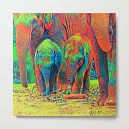 AnimalColor_Elephant_001_by_JAMColors Metal Print