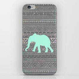 Mint Elephant  iPhone Skin