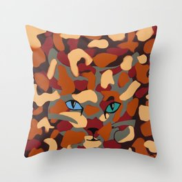 CamoKitty Throw Pillow