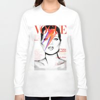 vogue Long Sleeve T-shirts featuring VOGUE III by Irene D'Anto'