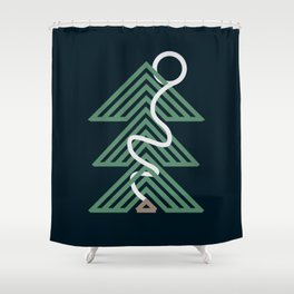Forest Cabin Shower Curtain