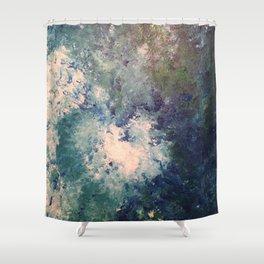 Marble Heart Shower Curtain