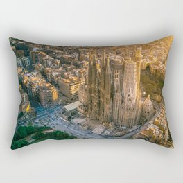 Scale of Sagrada Familia Rectangular Pillow