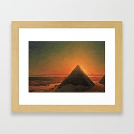 The Great Pyramid at Giza - 1871 Framed Art Print