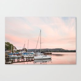 Lake Windermere at Sunset Canvas Print