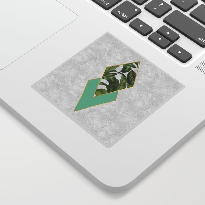 Leaves on marble Sticker