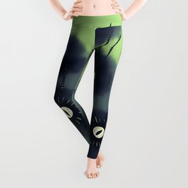 Creepy Cute Spider Face Monster Leggings