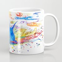donnie darko Mugs featuring Donnie Darko - Nice Day by Ayemaiden