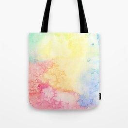 Rainbow Clouds Watercolor Tote Bag
