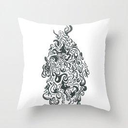 Line Monster Throw Pillow