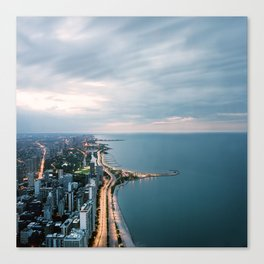 Chicago at Dusk by Lindsay Blair Brown Canvas Print