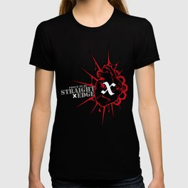 Strage Edge Heart T-shirt