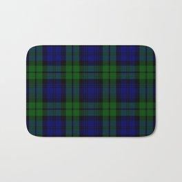 Scottish Campbell Tartan Pattern-Black Watch #1 Bath Mat