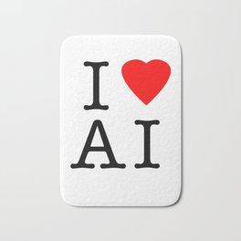 I love Artificial Intelligence NY Parody Bath Mat