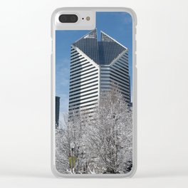 Snowy Crain Communications Clear iPhone Case