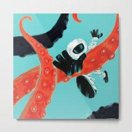 Sea Monsters Metal Print