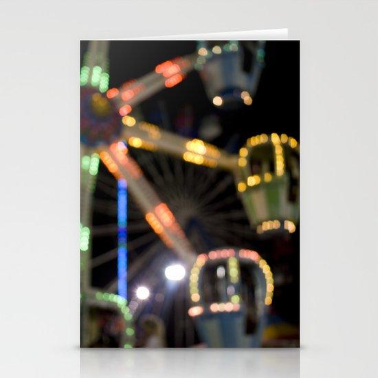 Seaside Boardwalk Lights Stationery Cards