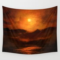 sunset Wall Tapestries featuring Sunset by Viviana Gonzalez