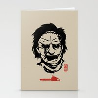 butcher billy Stationery Cards featuring Butcher by pigboom el crapo