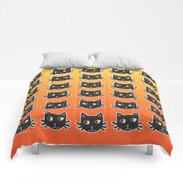 Black Cats Halloween Pattern Comforters