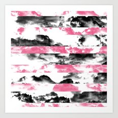 Black and Pink Clouds Art Print