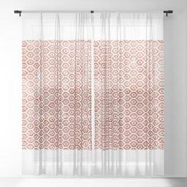 Mandarin Trellis Pattern Sheer Curtain